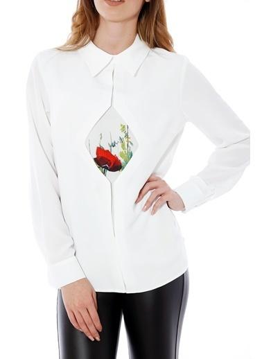 Soie Design Askılı Bluz Ekru